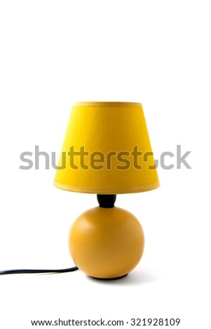 Shutterstock table lamp isolated on white background.
