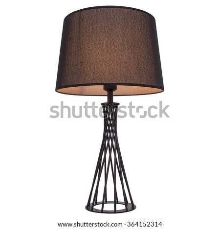 Table lamp isolated on white background #364152314