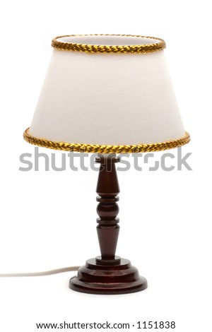 Table lamp isolated over white