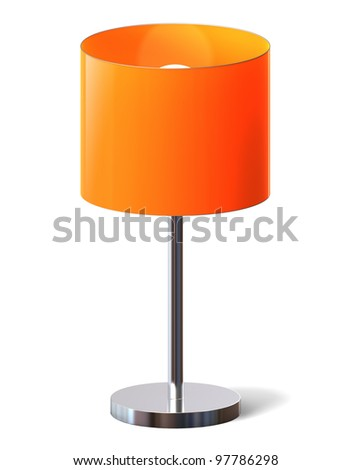 Table lamp - isolated with clipping path.