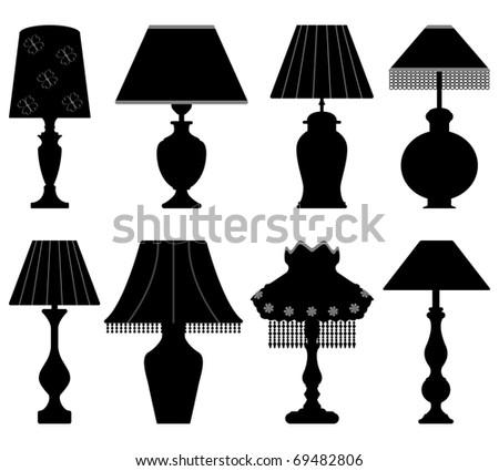 Table Lamp Light Black - stock photo