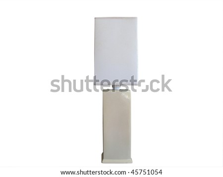 Table lamp with square shade