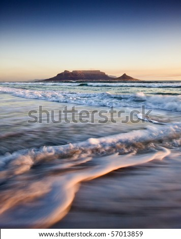 Table Mountain at Sunset