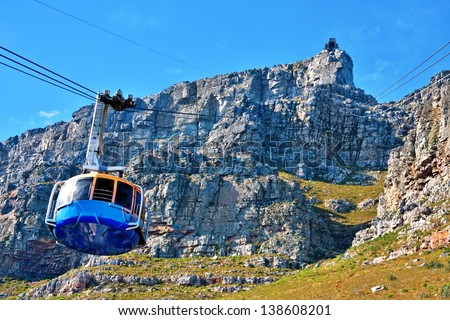 table mountain cable way in cape town, south africa