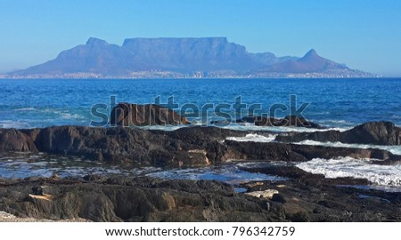 Table Mountain from Blouberg #796342759