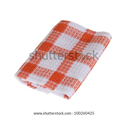 Table napkin  isolated against a white background