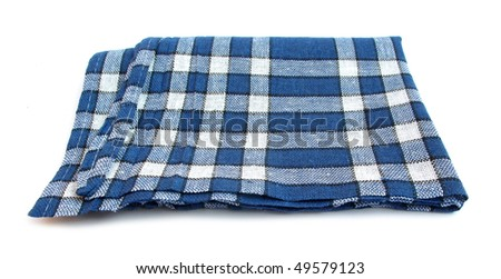 Table napkin or tablecloth blue and white