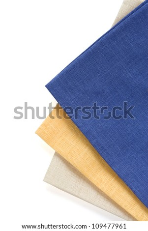 table napkins isolated on white background