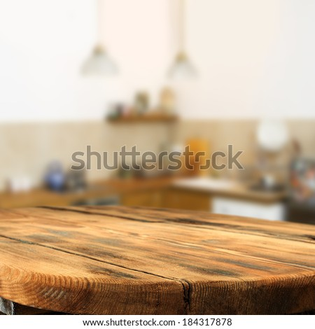 table of kitchen