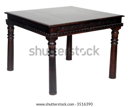 Table on a clean white background