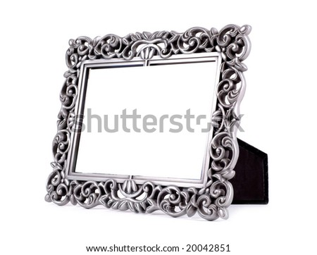 Table photo frame isolated on white