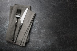 Table place setting. Eating concept