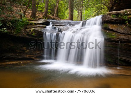 Table Rock State Park SC Waterfalls Carrick Creek Nature Landscape Flowing Water
