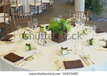 Table set for a luxury event party or wedding reception