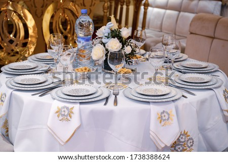 Table set for an event party or wedding reception Zdjęcia stock ©