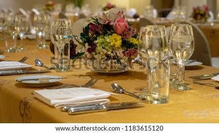 Table set for dinner