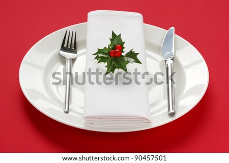 table set image for christmas dinner