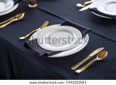 Table Setting at a Fancy Restaurant