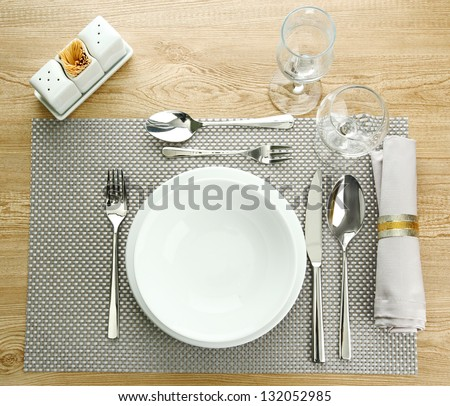 Table setting, close up #132052985