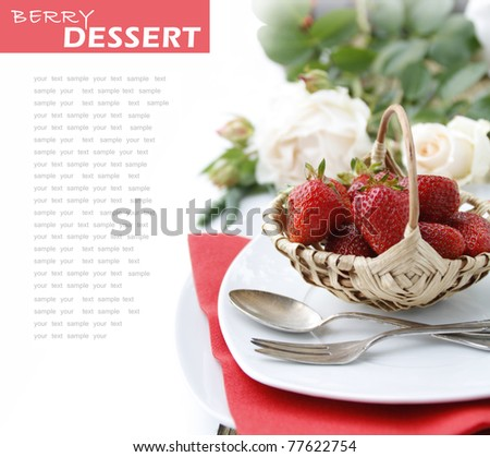Table setting for dessert