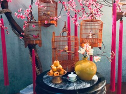table setting home decor for chinese new year
