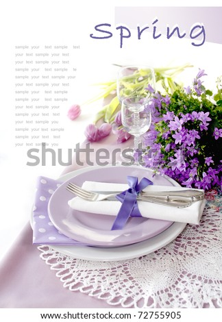 Table setting in purple color - 1