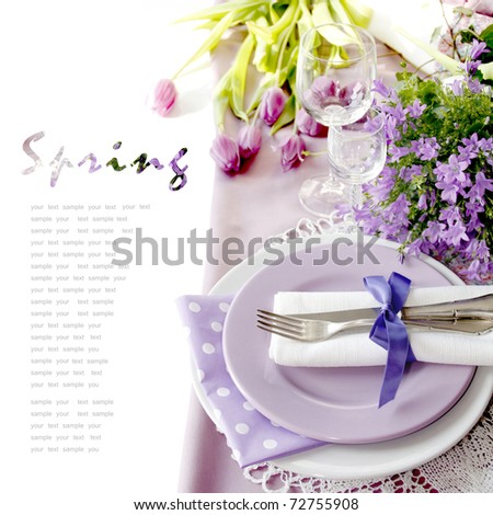 Table setting in purple color - 2