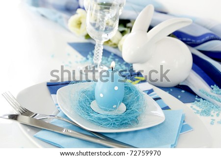 Table setting in turquoise color-3