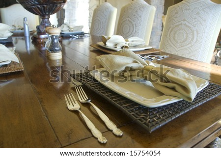 table setting with plate and silverware