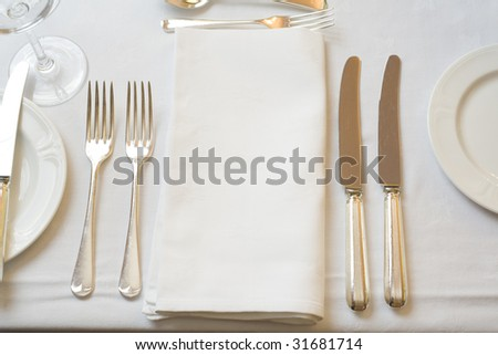 Table settings for fine dining stock photo 31681714 for Fine dining table setting