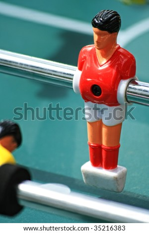 Table soccer closeup - stock photo