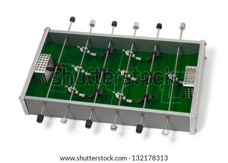 table soccer football game is isolated board game