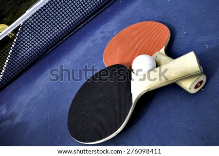 Table Tennis Ball and Bats