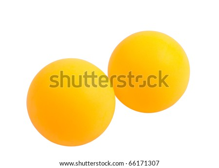 table tennis balls on a white background
