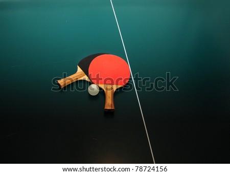 Table tennis equipment - stock photo