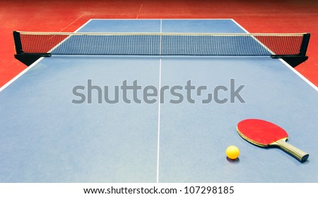 Table tennis - racket, ball, table