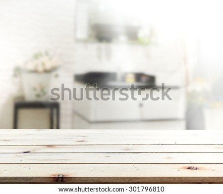 Table Top And Blur Interior of Background #301796810