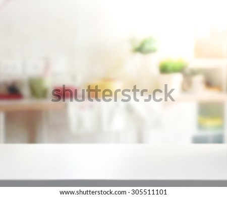 Shutterstock Table Top And Blur Interior of Background