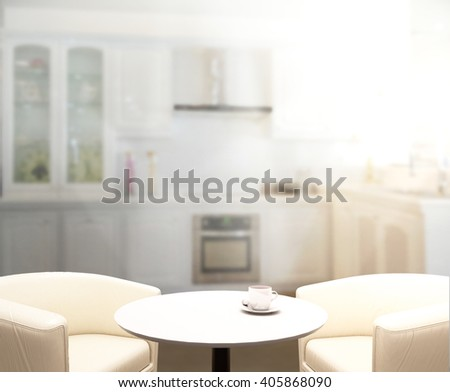 Table Top And Blur Interior of The Background #405868090
