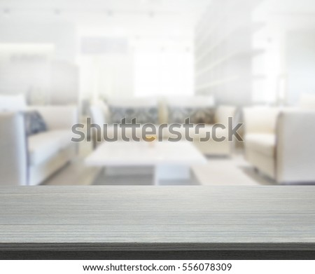 Table Top And Blur Living Room Of The Background #556078309