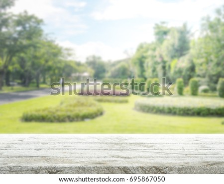 Table Top And Blur Nature Of The Background #695867050