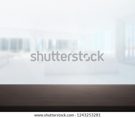 Table Top And Blur Office Of The Background #1243253281
