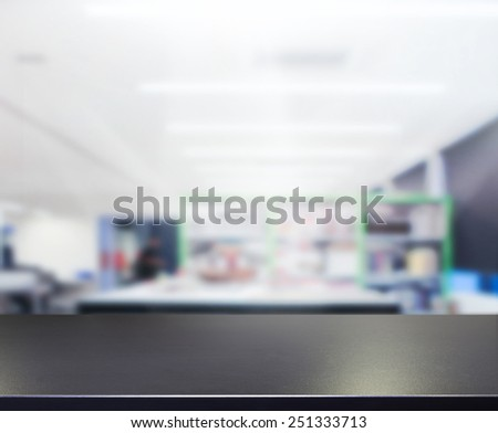 table top and blur office of...