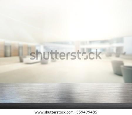 Table Top And Blur Office Of The Background #359499485