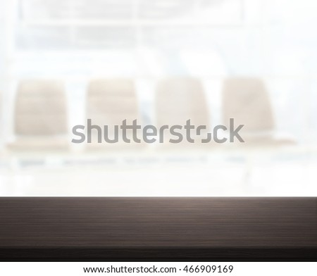 Table Top And Blur Office Of The Background #466909169