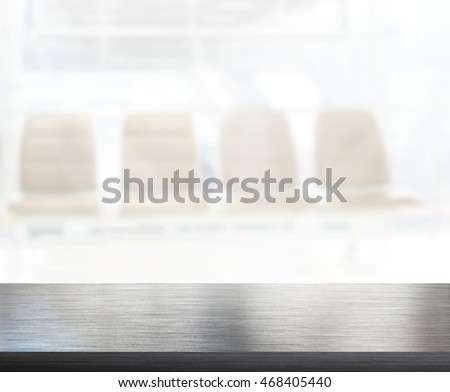 Table Top And Blur Office Of The Background #468405440