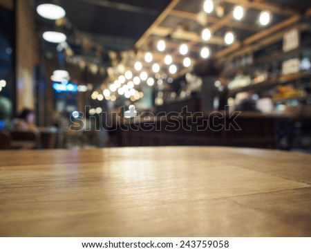 Table top counter Bar restaurant background