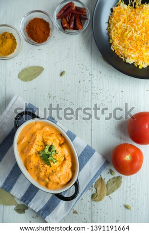 Table top food photography, the stock photo is good for restaurant menu or promotional poster usage