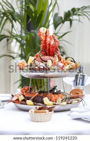 table with seafood