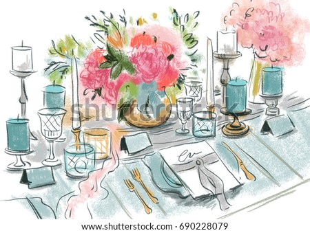 Table with wedding decor
